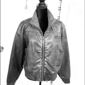 Last Kiss  Gray Bomber Jacket.